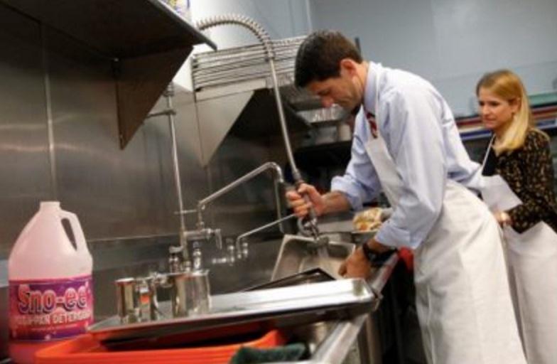 On Paul Ryan's Soup Kitchen Dishwashing Story